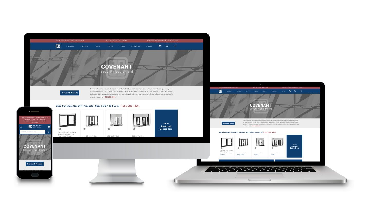 Covenant Security Equipment Website Mock up